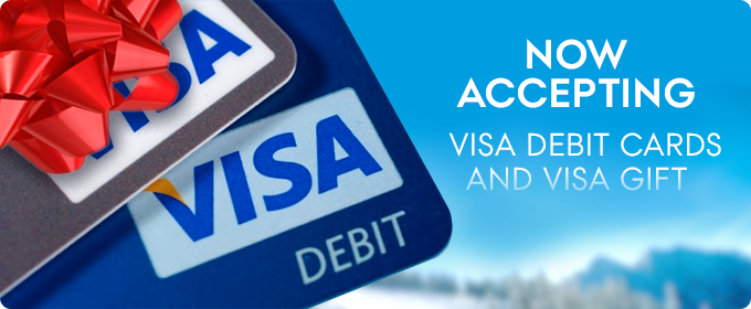 visa debit cards accepted