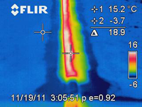 infrared heat loss without hinge seal