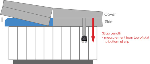 spa cover standard strap length