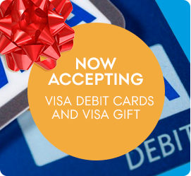visa debit cards now accepted